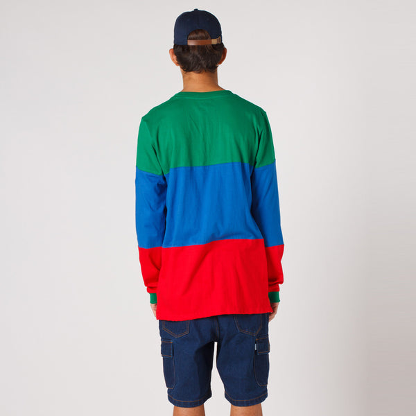 Lower LOW L/S Tee / LOW - Green/Blue/Red
