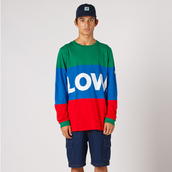 Lower LOW L/S Tee / LOW - Green/Royal/Red