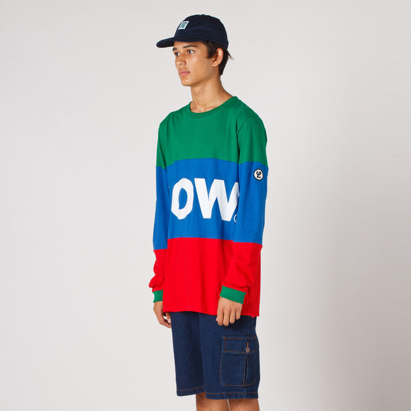 Lower LOW Long Sleeve / LOW - Green/Royal/Red