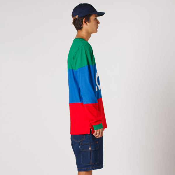 Lower LOW Long Sleeve Tee / LOW - Green/Blue/Red
