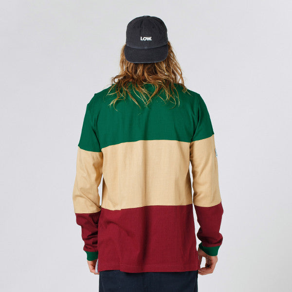 Lower LOW L/S Tee (Green/Tan/Maroon)