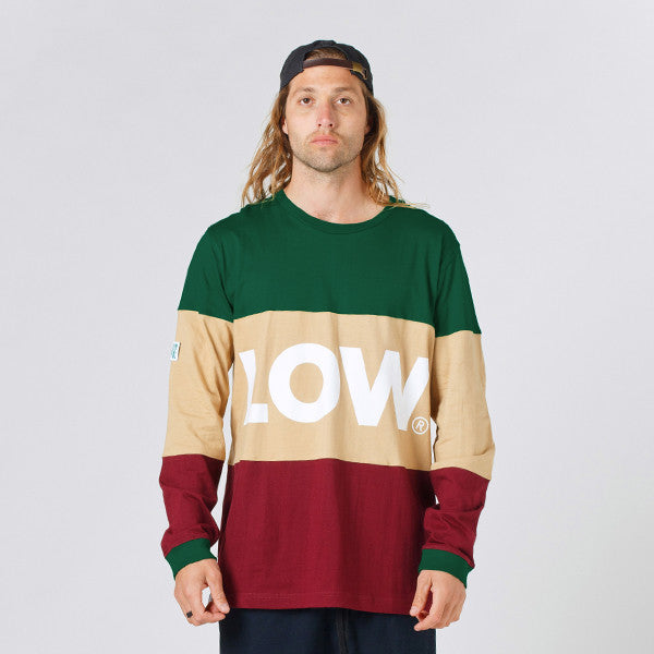 Lower LOW L/S Tee - Green/Tan/Maroon