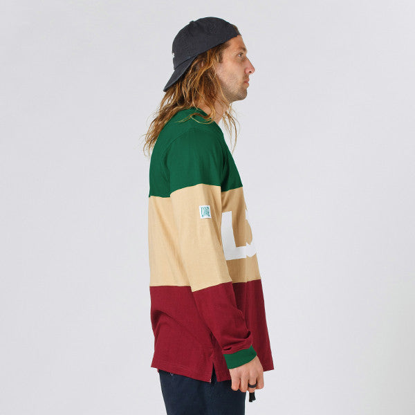 Lower LOW L/S Tee in Green/Tan/Maroon