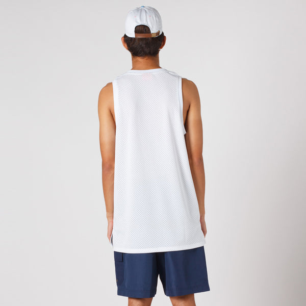 Lower Layer BBall Singlet / Boston2 (White)