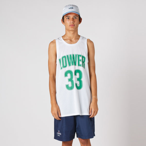 Lower Layer BBall Singlet / Boston2 - White