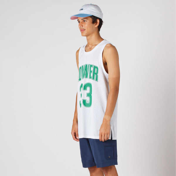 Lower Layer BBall Singlet / Boston2 in White