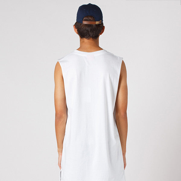 Lower Layer Cut Tank / Select - White