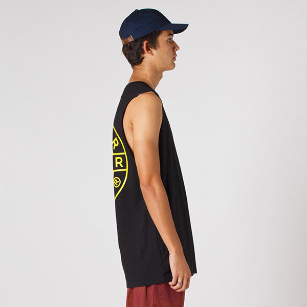 Lower / Layer Cut Tank - Sign in Black