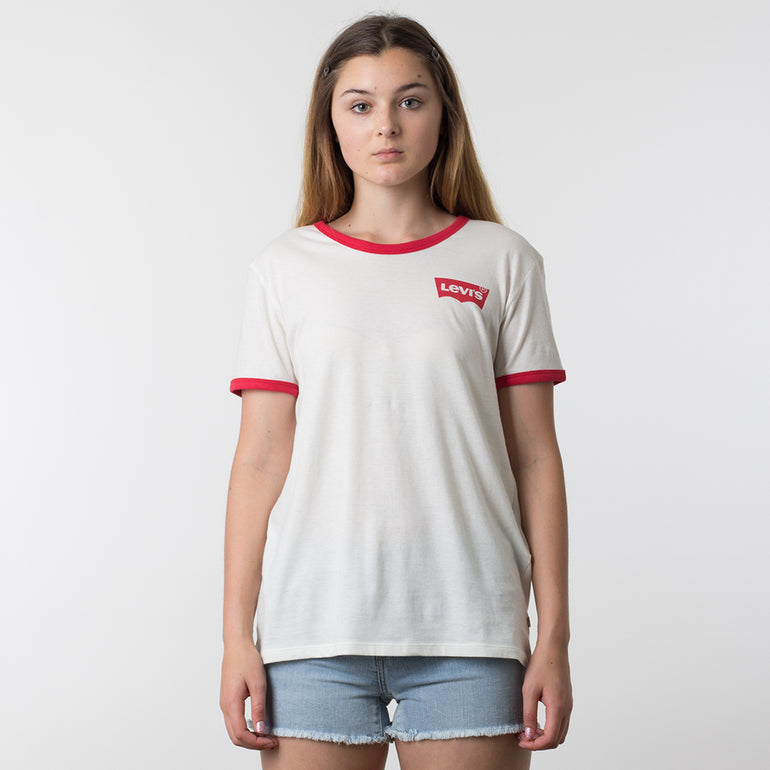 Levis Perfect Ringer Tee - Marshmallow