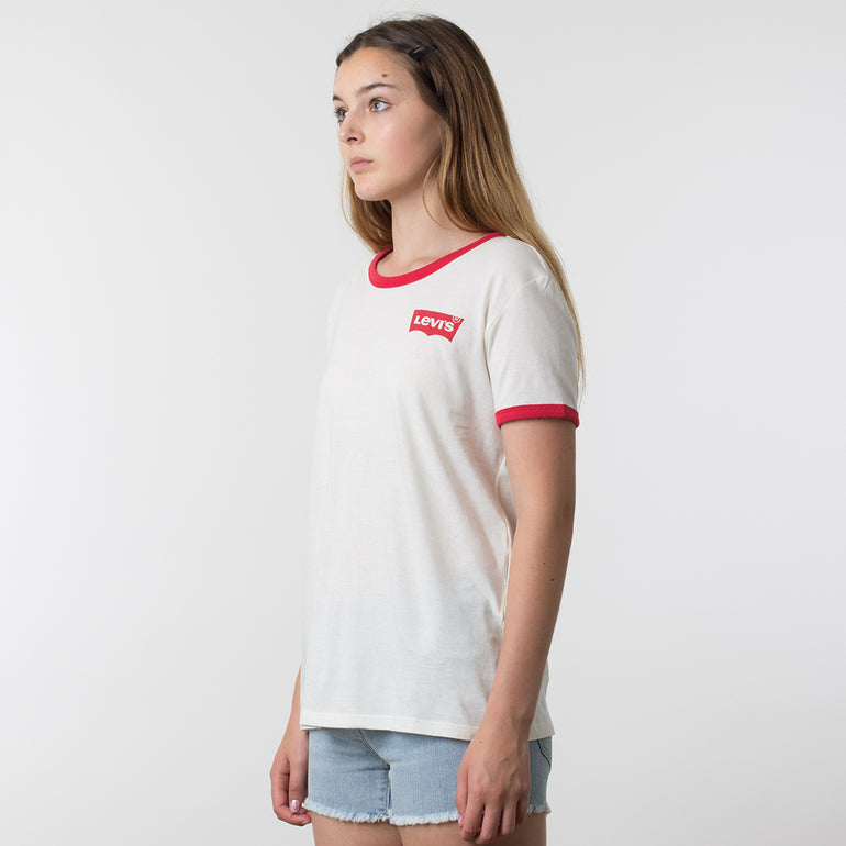 Levis Perfect Ringer Tee in Marshmallow