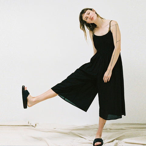 Lonely Folded Jumpsuit - Black