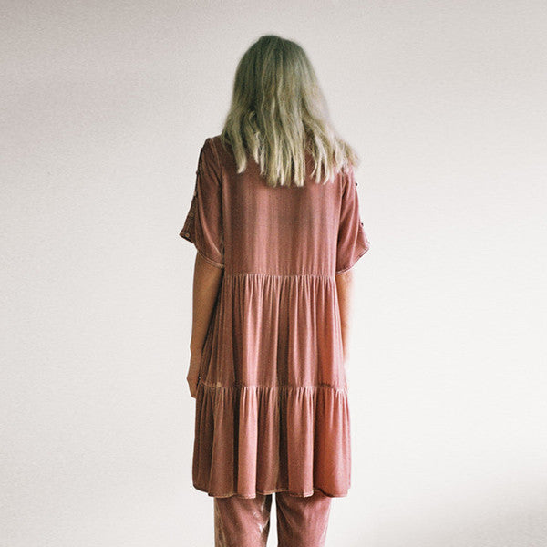 Lonely Lynch Tee Dress Blush