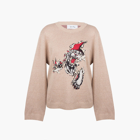Lonely Panther Sweater - Tan