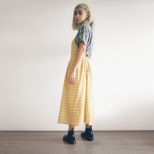 Lonely Patricia Dress (Gold Check)