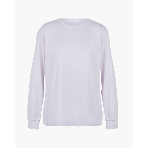 Lonely Spider LS Tee - Lilac/White