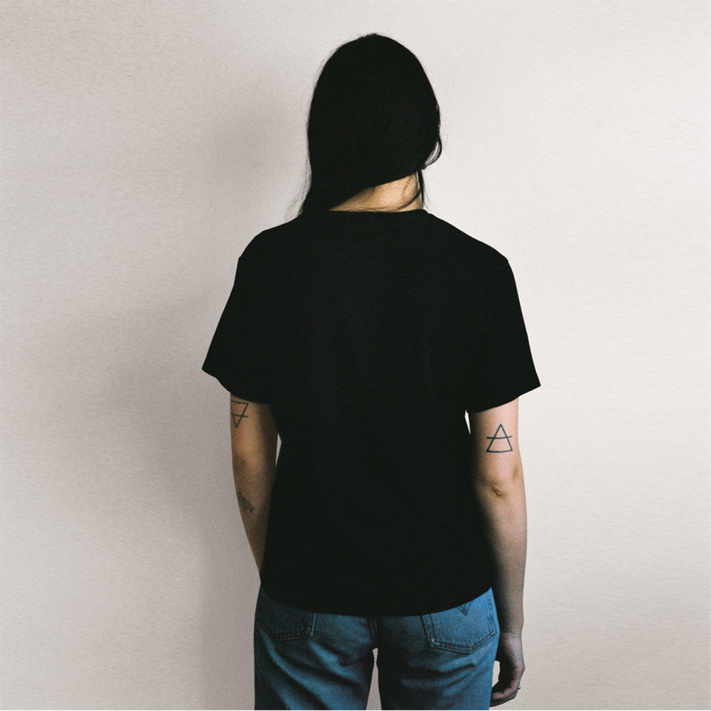 Lonely lonely Tee (embroidered) Black