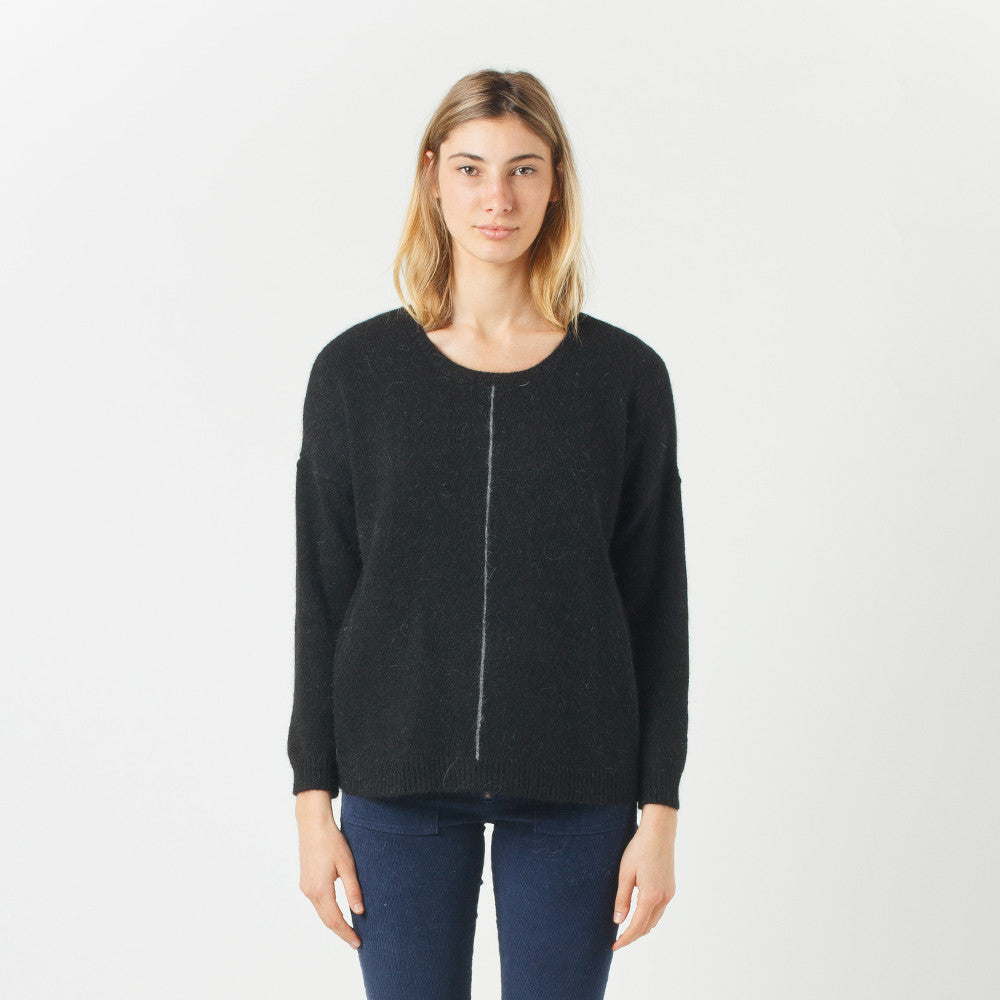 Five Each Black Loose Fit Knit