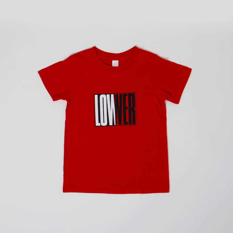 Lower Kids/Youth Tee / Cube Baby - Red