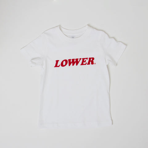 Lower Kids/Youth Tee / Cherry Ripe - White