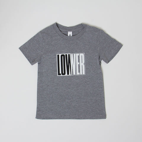 Lower Kids/Youth Tee / Cube Baby - Grey Marle