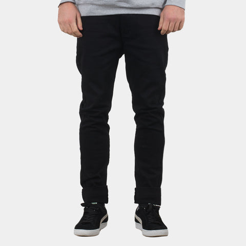 Lower Leaner Jeans / Teef (Embroidered) - Black/Black