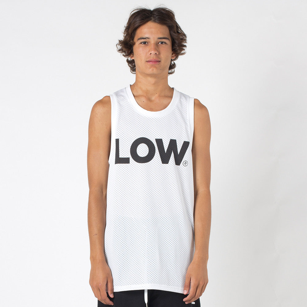 Lower Layer BBall Singlet / Low - White