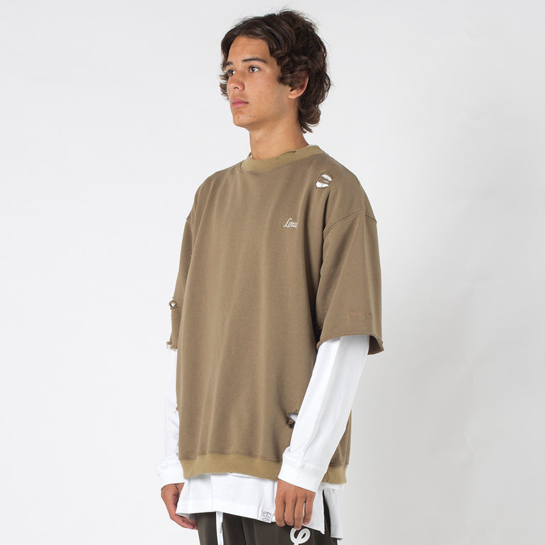 Lower Souls Cut Off Crew / Low in Tan