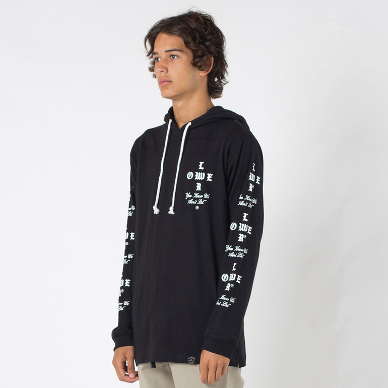 Lower Irving Panel L/S Tee / Crossroads in Black
