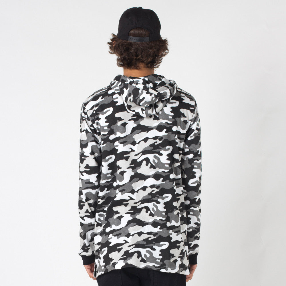 Lower Irving Panel L/S Tee / Low Snow Camo