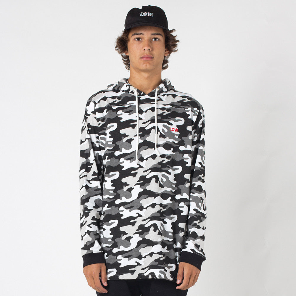Lower Irving Panel L/S Tee / Low - Snow Camo