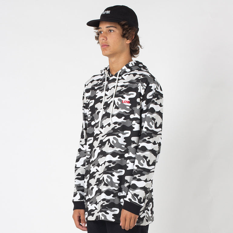 Lower Irving Panel L/S Tee / Low in Snow Camo