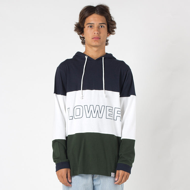 Lower Irving Panel L/S Tee / Brooks - Navy/White/Green