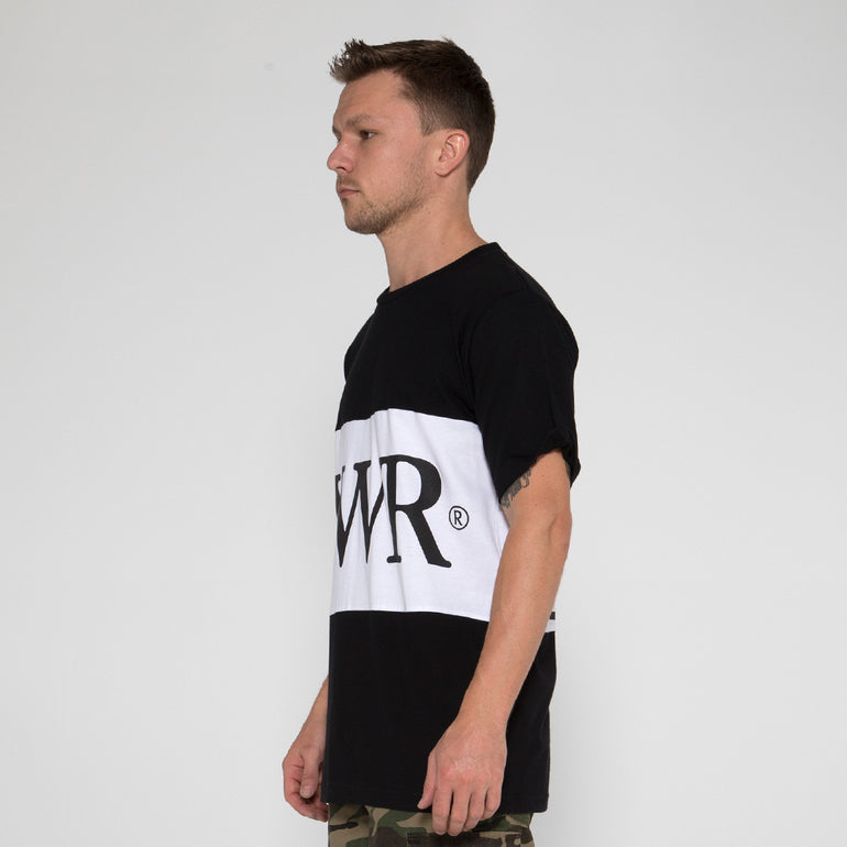 Lower Panel Tee / LWR in Black/White