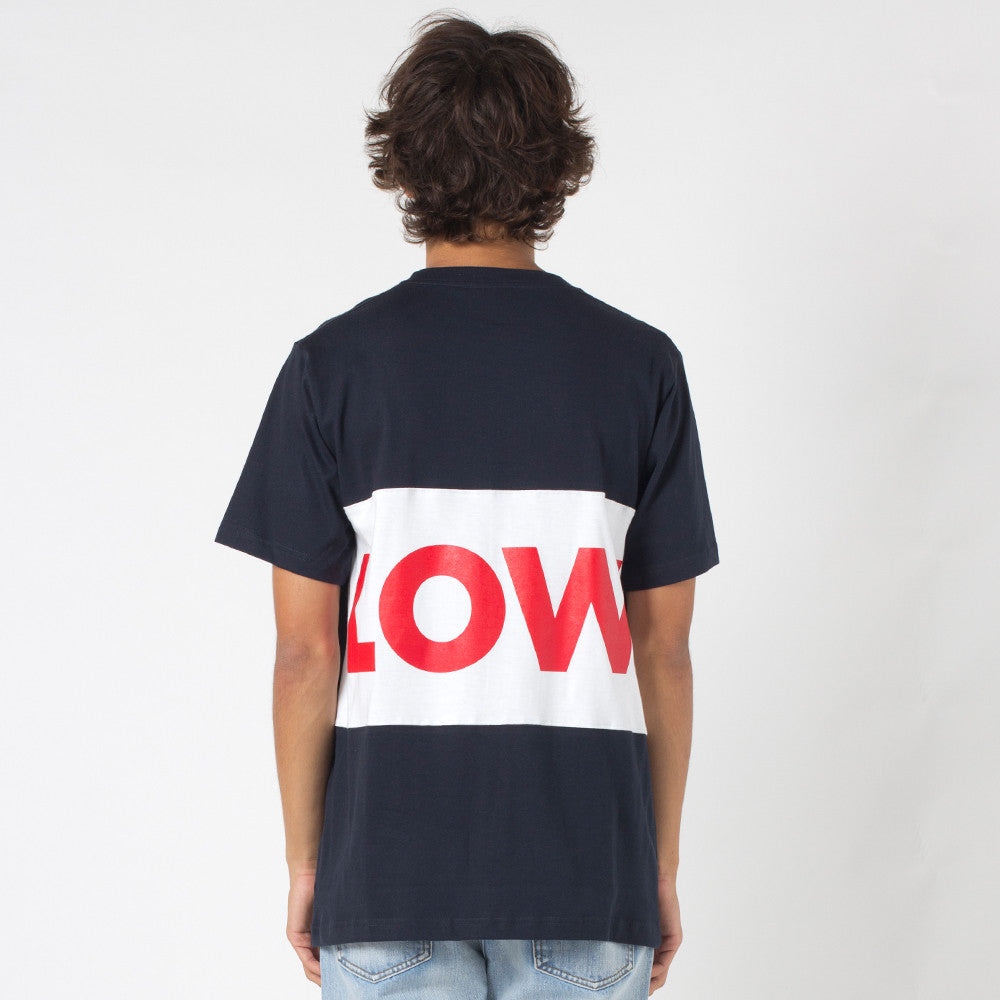 Lower Roy Tee / LOW Navy/White