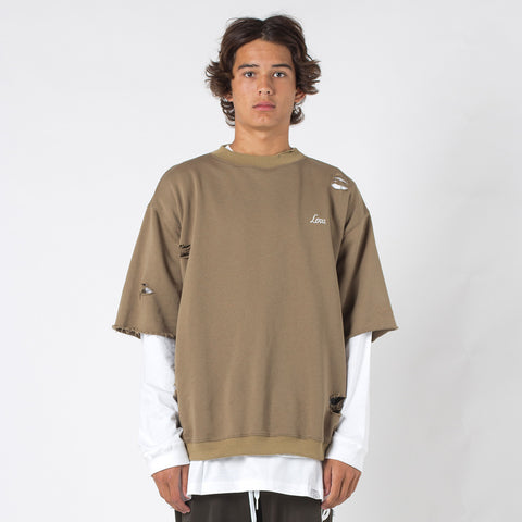 Lower Souls Cut Off Crew / Low - Tan