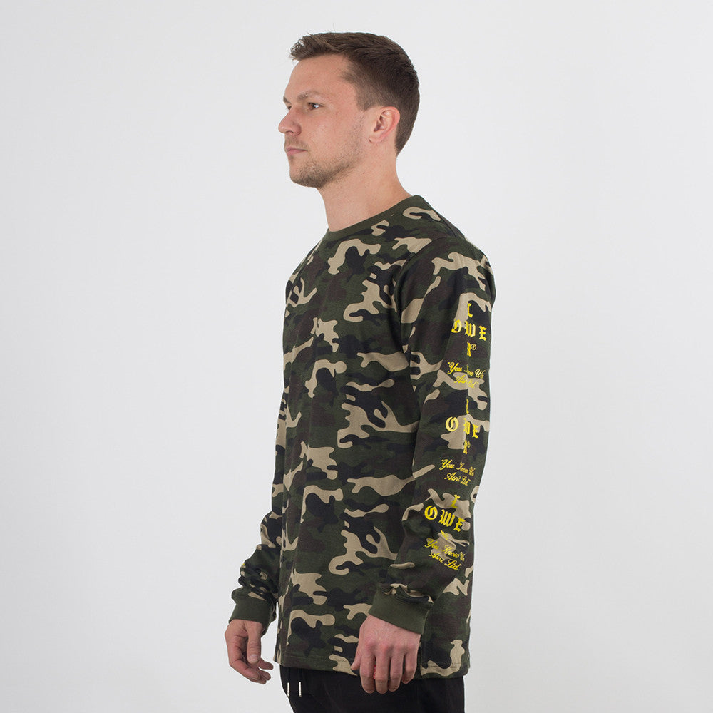 Lower QRS L/S Tee / Crossroads in Camo