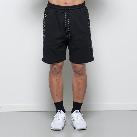 Lower Sport Track Shorts / Charger Outline - Black