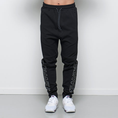 Lower Sport Track Pants / Charger Outline - Black