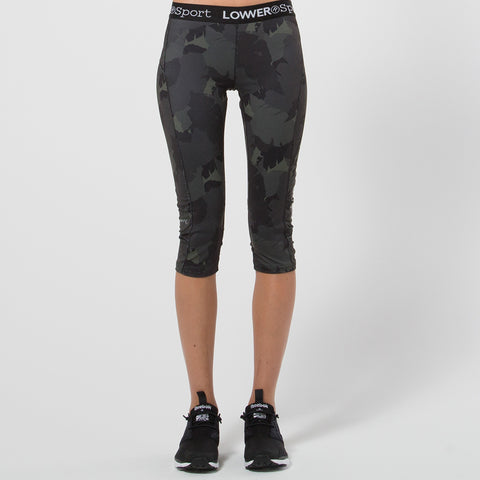Lower Sport Panel Capri Tights / LWY - Camo