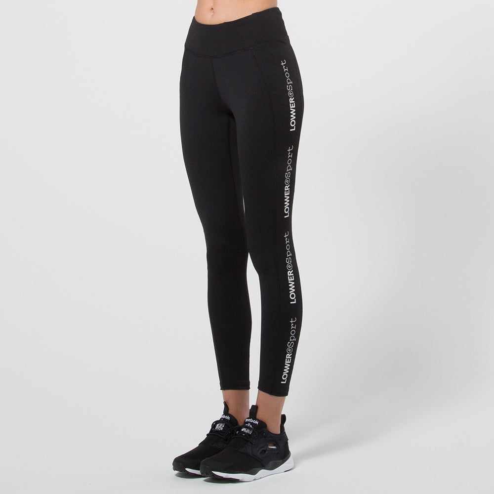 Lower Sport Side Panel Tights in Black