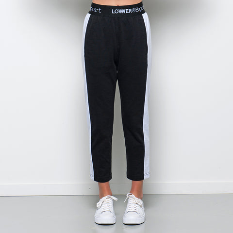 Lower Sport Leisure Trackpants - Black/White