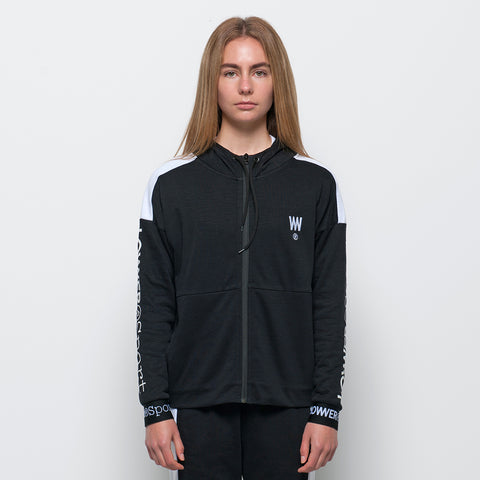 Lower Sport Leisure Zip Up Hood - Black/White