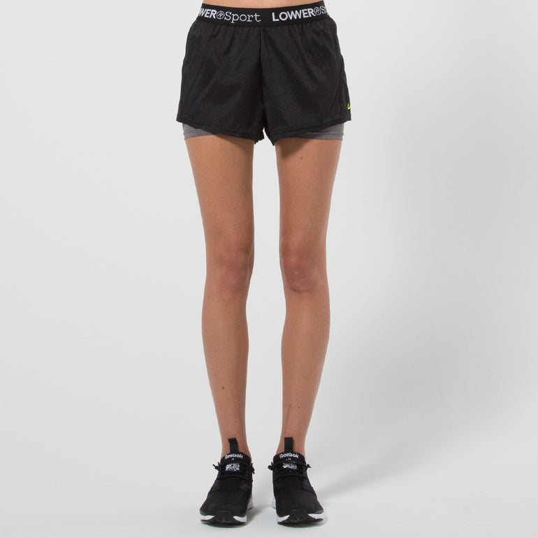 Lower Sport Two In One Shorts - Black