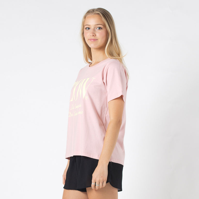 Lower Active Tee / Louis in Dusty Pink