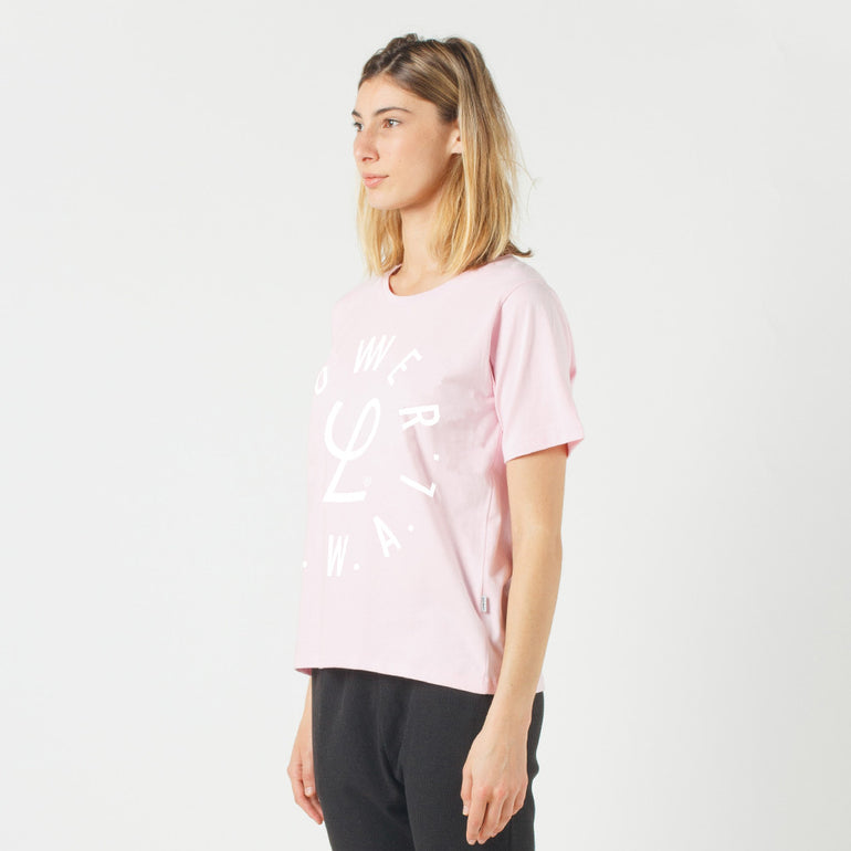 Lower Active Tee / Infinity in Pink
