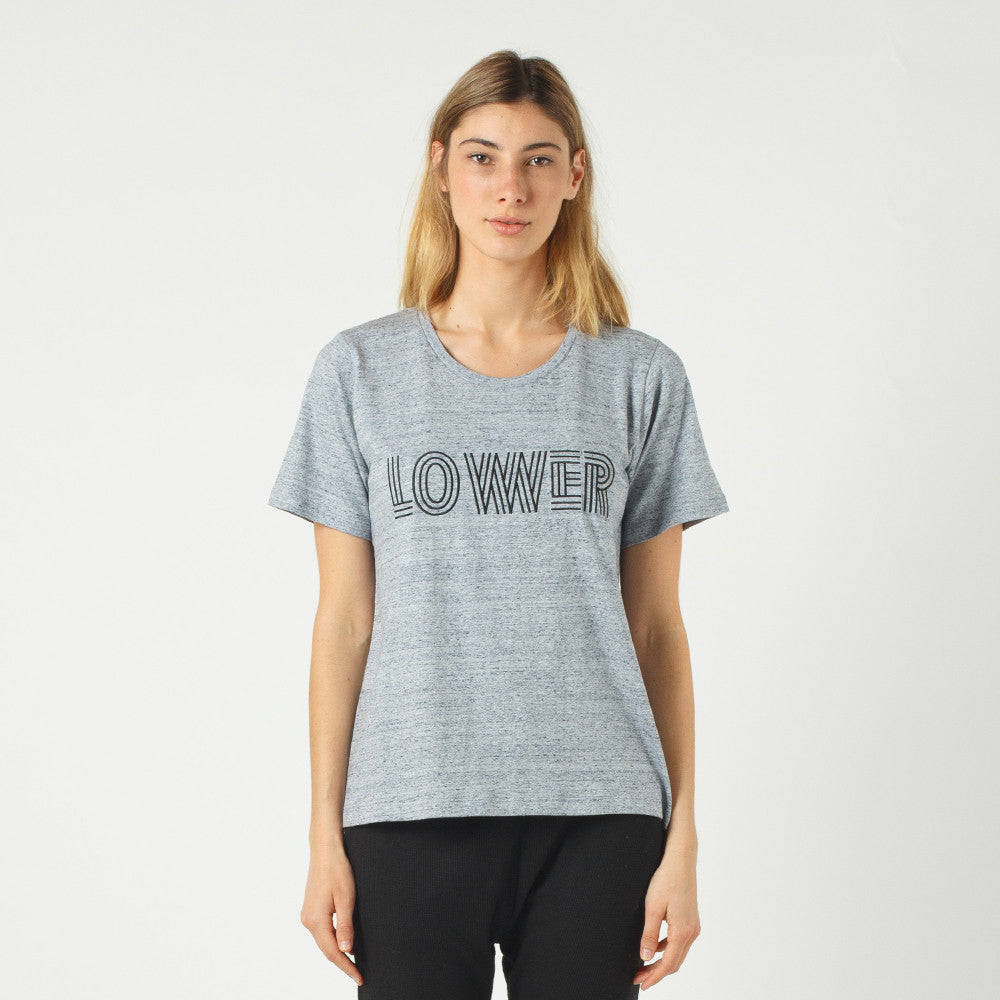 Lower Active Tee / Licorice (Embroidered) - Grey