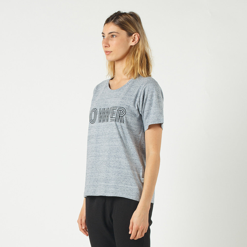 Lower Active Tee / Licorice (Embroidered) in Grey