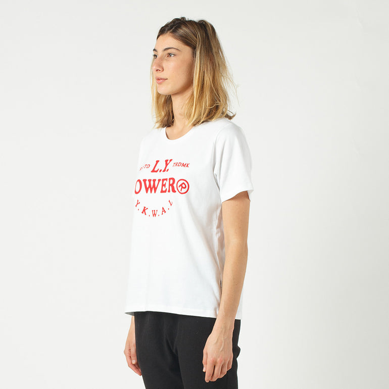 Lower Active Tee / Page in White
