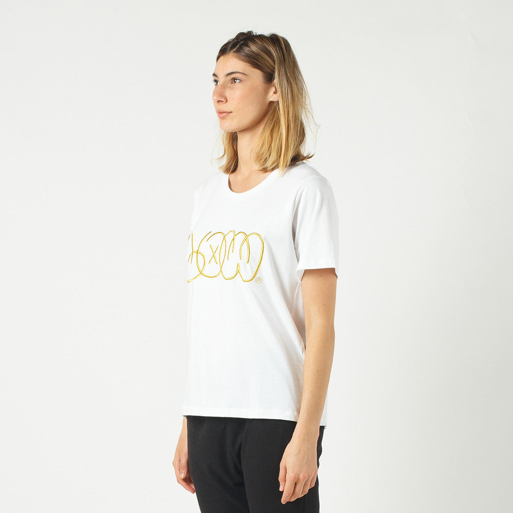 Lower Active Tee / Phase (Embroidered) in White