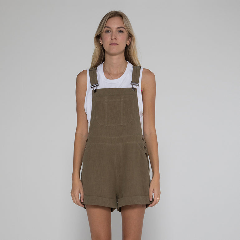 Lower Cayla Overalls - Olive